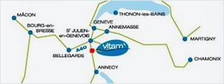 Plan d'accès VITAM Neydens
