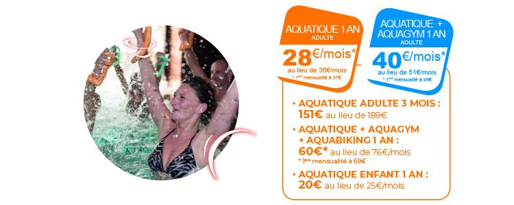 -20% sur l'abonnement aquatique 1 an ou 3 mois
