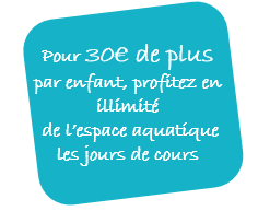 Option aquatique stages vacances