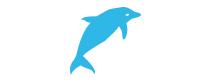 Pictogramme dauphin bleu
