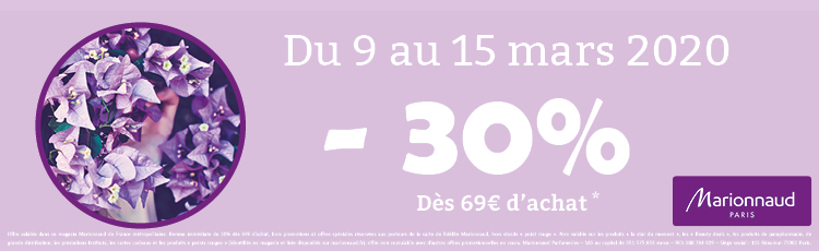 offre marionnaud mars 2020