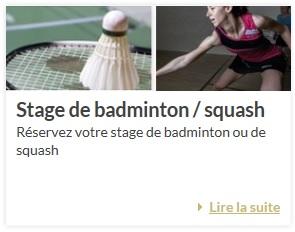Cours et stages de badminton
